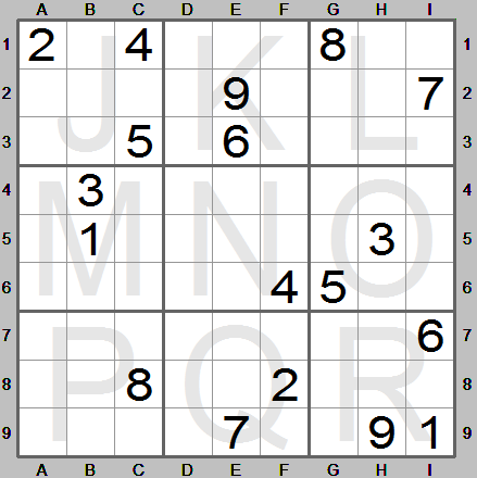 an extremely difficult sudoku made by sudoku instructions program