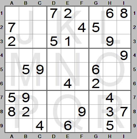 easy sudoku puzzle made by sudoku instructions program