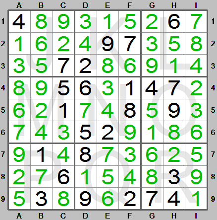 fully solved sudoku puzzle in sudoku instructions program
